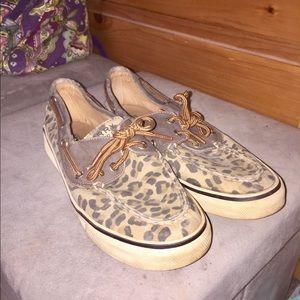 Shoes - Cheetah sperrys!